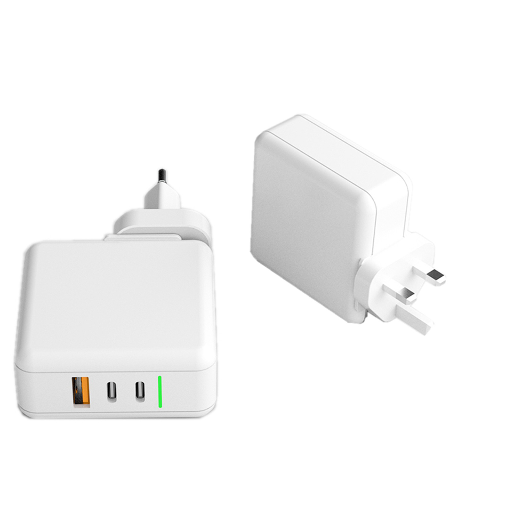 Mini Travel Type C 2 USB Ports Fast Charging 60w GAN Charger
